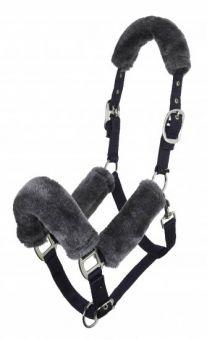 LeMieux Comfort Headcollar Grey - Black