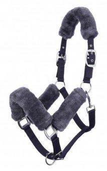 LeMieux Comfort Headcollar Navy - Grey