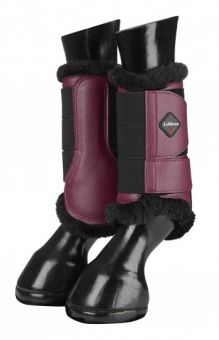 LeMieux Fleece Lined Brushing Boots Pair Mulberry