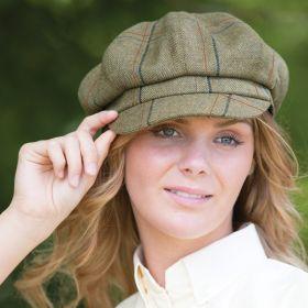 Equetech Launton Tweed Baker Boy Cap
