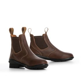 Tredstep Liffey Pull on Short Boots - Mahogany