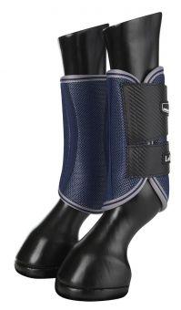 LeMieux Carbon Mesh Wrap Boots - Anthracite - Citron - LeMieux