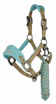 LeMieux Vogue MINI Fleece Headcollar & Leadrope Mink - LeMieux