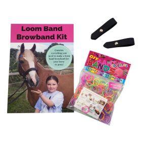 Loom Band Browband Kits-BLK & Neon
