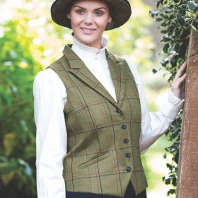 Equetech Ladies Launton Tweed Lapel Waistcoat