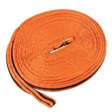 Kincade Brights Two Tone Lunge Rein  Orange