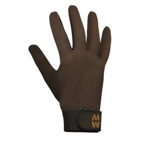 Macwet Climatec Equestrian Gloves - Long Cuff Brown