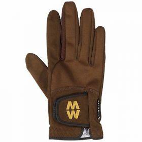 Macwet Climatec Equestrian Gloves - Short Cuff  Brown