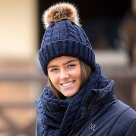 Mark Todd Bobble Knitted Hat Navy