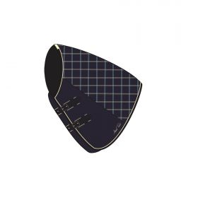 Mark Todd Lightweight Turnout Neck Cover Navy Beige Check