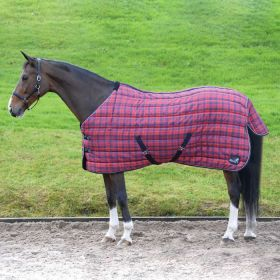 Masta Quiltmasta 350g Stable Rug Red Check