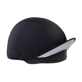 Equetech Mesh Hat Silk - Black Silver - Equetech