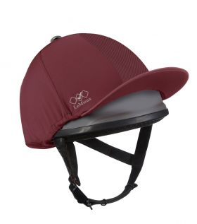 LeMieux Pro Mesh Hat Silk - Burgundy