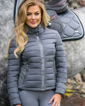 PS of Sweden Mila Riding Jacket-Anthracite (Grey)-Large Clearance - PS of Sweden