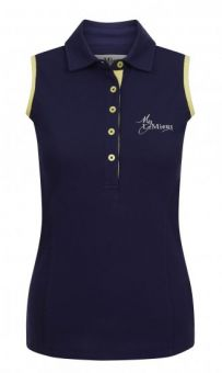 My LeMieux Sleeveless Polo Shirt - Navy Citron