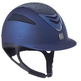 One K Defender Air Glitter Riding Helmet Navy