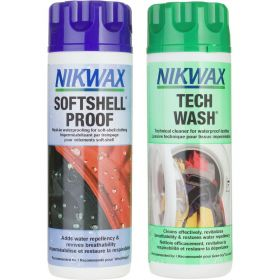 Nikwax Tech Wash/SoftShell Proof Twin Pack 300ml