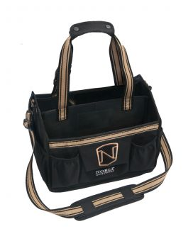 Noble Outfitters EquinEssential Tote Grooming Kit Bag  Black - Gold