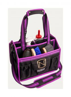 Noble Outfitters EquinEssential Tote Grooming Kit Bag  Blackberry