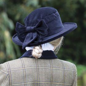 Equetech Navy Velvet Show Hat