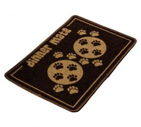 Pet Rebellion Absorbent Food Mat Dinner Mate Brown