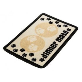 Pet Rebellion Absorbent Food Mat Dinner Mate Cream