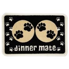 Pet Rebellion Absorbent Food Mat Dinner Mate Mini Black