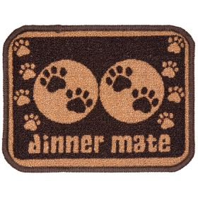 Pet Rebellion Absorbent Food Mat Dinner Mate Mini Brown