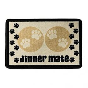 Pet Rebellion Absorbent Food Mat Dinner Mate Mini Cream
