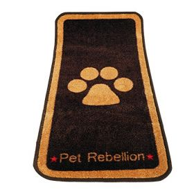 Pet Rebellion Barrier Rug Stop Muddy Paws Brown