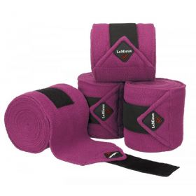 LeMieux Luxury Pony Size Polo Bandages - Set of Four Plum