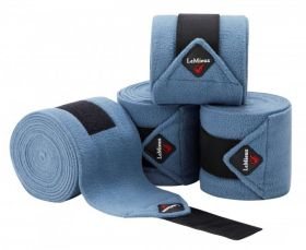 LeMieux Luxury Pony Size Polo Bandages - Set of Four Ice Blue