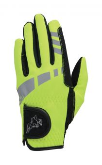 Hy5 Extreme Reflective Softshell Gloves Adults Reflective Yellow