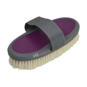HySHINE Active Groom Goat Hair Body Brush Port Royal Purple