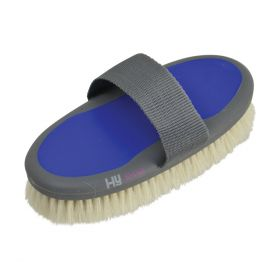 HySHINE Active Groom Goat Hair Body Brush Regal Blue