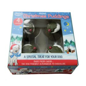 Mini Carob Xmas Pudding for Dogs