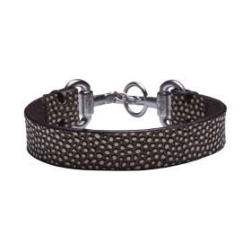 Noble Outfitters Snaffle Bit Bracelet Black - White