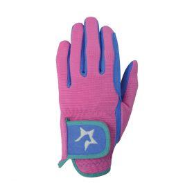 Hy5 Zeddy Three Tone Riding Gloves Pink