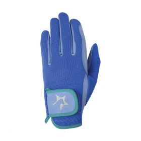 Hy5 Zeddy Three Tone Riding Gloves Blue
