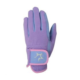 Hy5 Zeddy Three Tone Riding Gloves lavender