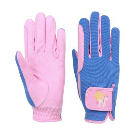 Little Rider Star in Show Riding Gloves Pink - Blue