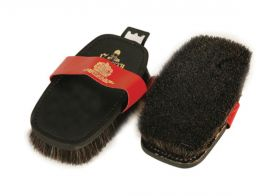 Equerry Leather Backed Body Brush Black Horse Hair