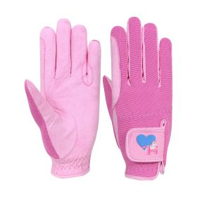 Little Rider Little Show Pony Riding Gloves Pink