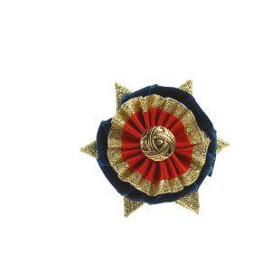 ShowQuest Boston/Ludlow Buttonhole Navy/Red/Gold - Showquest
