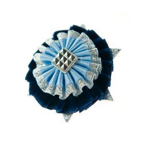 ShowQuest Boston/Ludlow Buttonhole Navy/Pale Blue/Silver