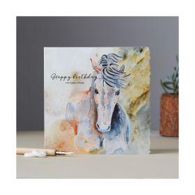 Deckled Edge Fanciful Dolomite Card Happy Birthday You Dark Horse