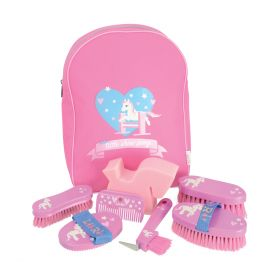 Little Rider Little Show Pony Complete Grooming Kit Rucksack Pink