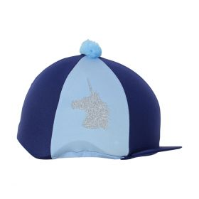 Unicorn Glitter Hat Cover by Little Rider Navy Light Blue