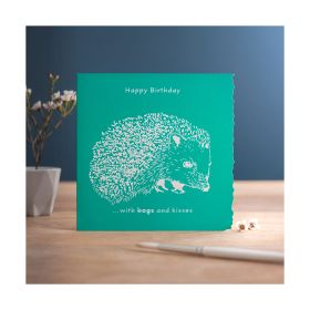 Deckled Edge Colour Block - Happy Birthday - Hogs & Kisses - Deckled Edge