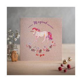 Deckled Edge Christmas Card Merry Magical Chirstmas
